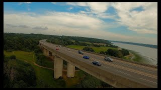 Cinematic fpv flight under orwell bridge #fpv #fpvdrone #cinematic #orwellbridge