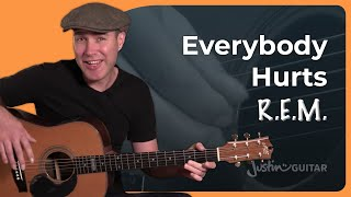 Everybody Hurts   R.E.M.   Beginner Fingerstyle Guitar Lesson Tutorial (BS 920)