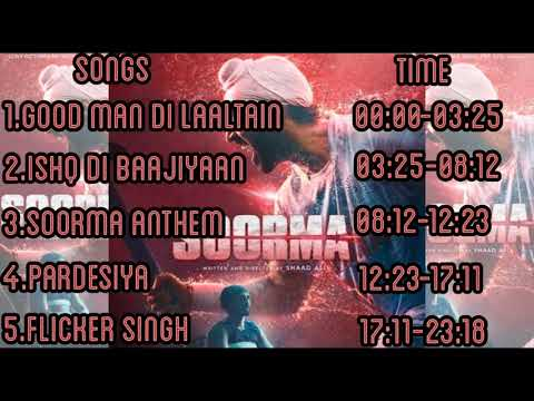 Soorma Audio Jukebox || Soorma Audio Album Jukebox | Full New Songs || Tapsee Pannu | diljit dosanjh