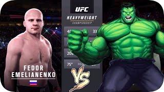 UFC 2 БОЙ Федор Емельяненко vs Халк (com.vs com.)
