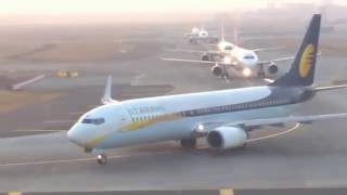 Best Closest View Of Mumbai Airport RUNWAY TAKE OFF And LANDING VIDEO  [ Full HD ]