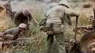 1945 UNEDITED! Iwo Jima: Setting in New Position