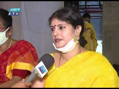 পূজার পিঁড়িতে বসেছেন দুর্গতিনাশিনী দেবী দুর্গা | ETV News