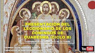 26-F 20:00h: El leccionario de los domingos de Cuaresma (Conferencia)