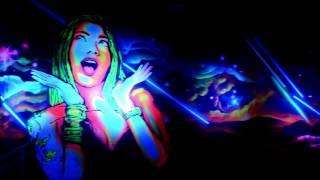 Graffiti fluor luz negra Bora Bora 2015