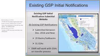 Groundwater Sustainability Plan Initial Notification Webinar