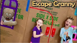 Video Escape the Babysitter Granny in Real Life! Escape Rooms & Locking Granny in Giant Box Fort!!! MP3, 3GP, MP4, WEBM, AVI, FLV September 2019