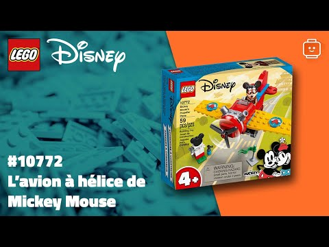 Vidéo LEGO Disney 10772 : Mickey & ses amis : L'avion à hélice de Mickey Mouse