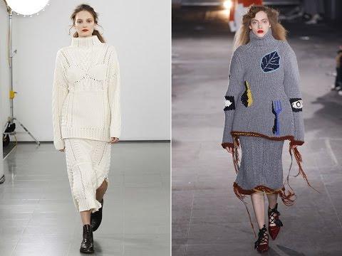 Модная вязаная одежда зима 2017