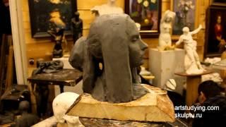 Смотреть онлайн Как слепить скульптуру, глядя на человека