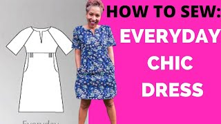 How To Sew HTS | Everyday Chic Dress | Sew Different Patterns