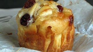 Como hacer Muffins Grandes de Chocolate Blanco con Arándanos. Receta fácil.