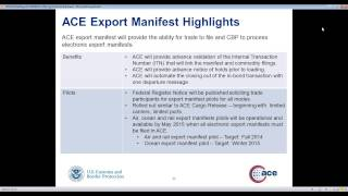 NEI Webinar | June 5, 2014 - Exports in ACE