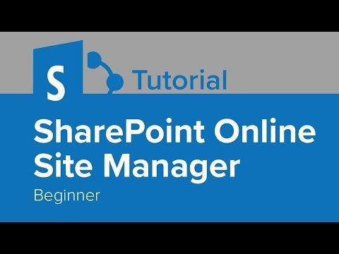 SharePoint Online Site Manager Beginner Tutorial