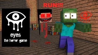 Monster School : EYES THE HORROR GAME CHALLENGE - Minecraft Animation