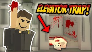 THE ELEVATOR TRAP - Unturned Roleplay | Trap Base Build!