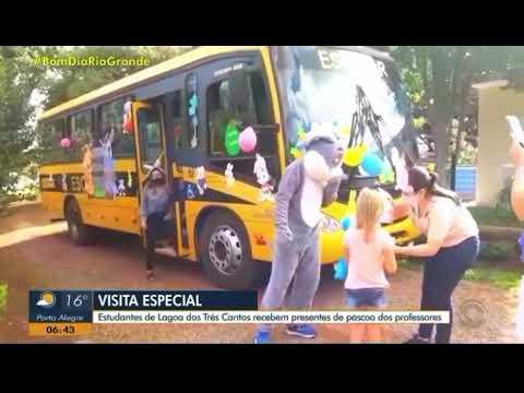 Matéria da RBS TV referente a programação de Páscoa de Lagoa dos Três Cantos