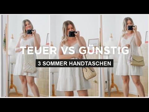 TEUER VS GÜNSTIG - Welche Sommer Handtasche ist die bessere? + Styling Tipps | Das weiße Reh