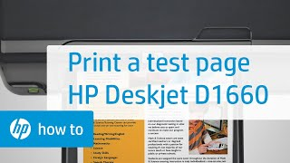 Printing a Test Page - HP Deskjet D1660 Printer