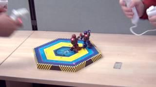 Battle Bot Robot Tinju Real Steel Boxing LED INFRARED murah NEW MIB