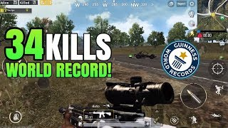 34 Kills WORLD RECORD! | FPP Solo VS Squad | PUBG Mobile
