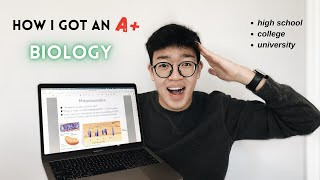 HOW TO DO WELL IN BIOLOGY | high school & college/university biology tips & tricks