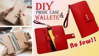 DIY WALLET & PHONE CASE • Old Bag Transform No Sew Idea