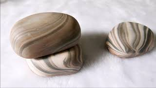 石頭渲染皂DIY -  River Rock Handmade Soaps With In-the-pot Swirl Technique - 手工皂