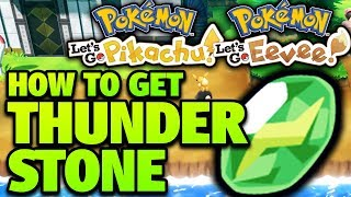 How to Get Thunder Stone Location – Pokemon Let's Go Pikachu and Eevee Thunder Stone Location