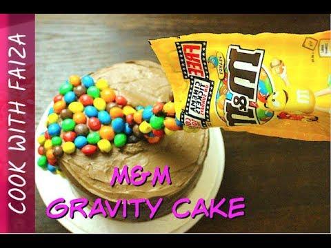 M & M GRAVITY CAKE – اردو / हिंदी  *COOK WITH FAIZA*