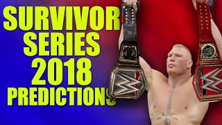 WWE Survivor Series 2018 Predictions (All Winners Revealed)