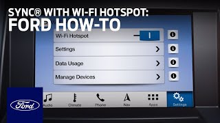 SYNC® Connect with Wi-Fi Hotspot Overview | SYNC 3 How-To | Ford