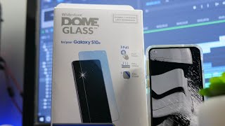 Best Tempered Glass Screen Protector for Galaxy S10e - Whitestone Dome Glass Installation
