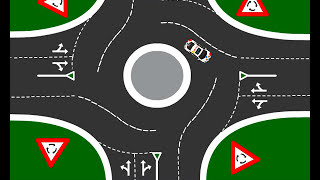 Roundabouts - Turing Left, Right or Going Straight #roundabouts