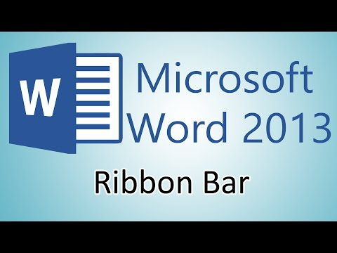Microsoft Word 2013 Tutorial – Ribbon Bar