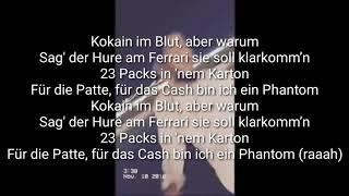 Phantom   Lyrics   Capital Bra Feat. Noah | Joker Bra