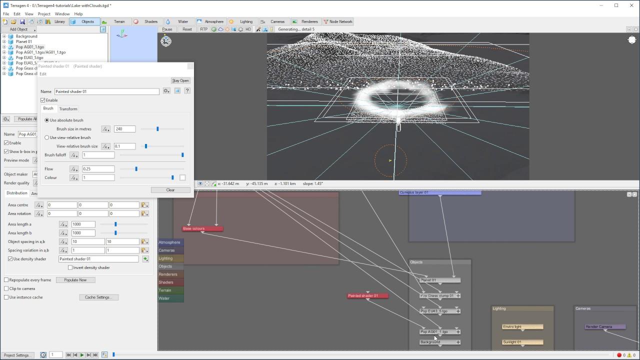 Terragen 4 tutorials,  animation in terragen 4 lens bloom effect part 14