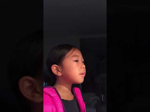 "my adorable young student singing ""Silent Night"""