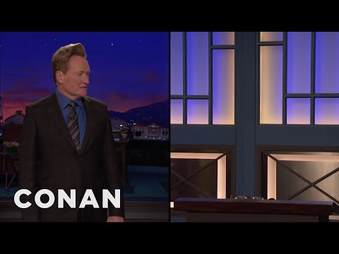 Andy Retires In The Middle Of Conan's Monologue  - CONAN on TBS (видео)