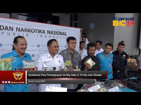 Konferensi Pers Penangkapan 53,9kg Sabu & 70 Ribu Butir Ekstasi