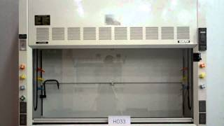 6′ Hamilton SafeAire Fume Hood With Epoxy Tops Used Laboratory Fume Hood