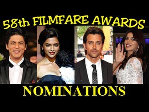 58th Filmfare Awards 2013 NOMINATIONS LIST