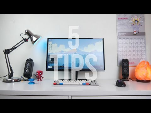 5 Cheap Setup HACKS to make your desk look AWESOME
