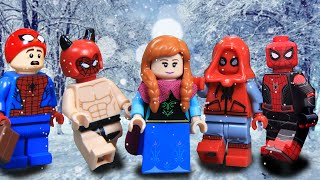 LEGO Anna vs Avengers to Saves Olaf