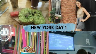 NEW YORK DAY 1 VLOG: NYU, Lucid Dream, and Edible Cookie Dough!