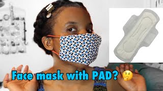 How To Make Your Own Face Mask Using A Pad? 😱🤔| Protection From Virus