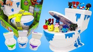 Сюрпризы в Унитазе. Игрушки Flush Force – Жители Туалета. Видео для детей. Новые Игрушки Распаковка