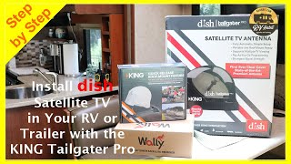 RV Dish Wally, VQ900 King Tailgater Pro Satellite Antenna & MB700 Roof Mount TV Install & Review