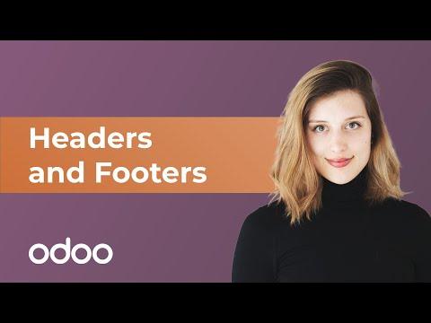 Kopf- und Fußzeilen   odoo Website