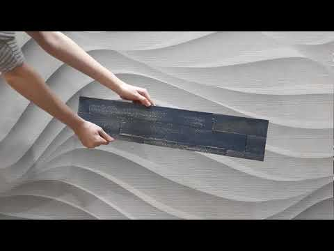Distressed Painted Timber Wall Panels - Blue Ocean 1sqm Box